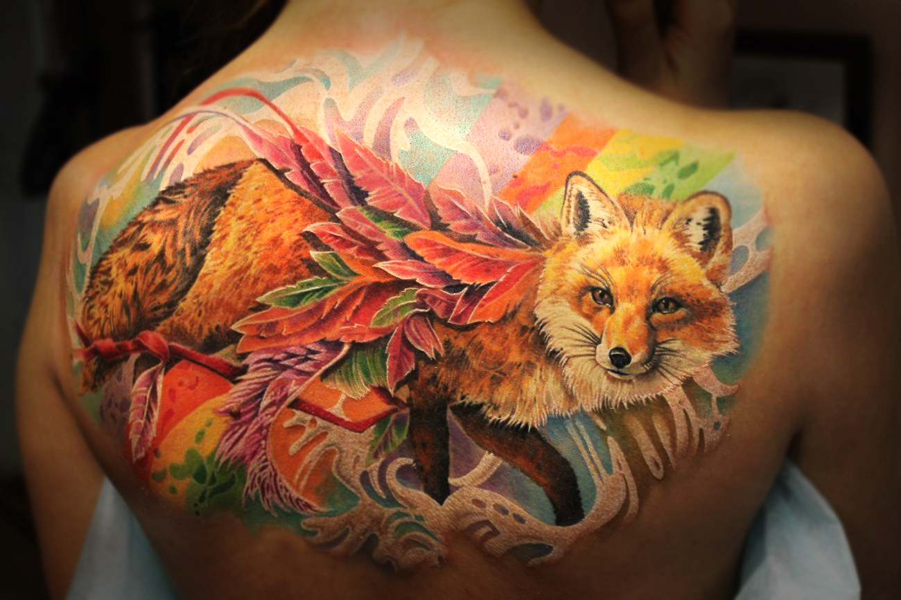 Значение тату лиса - Татуировки и их значение 12